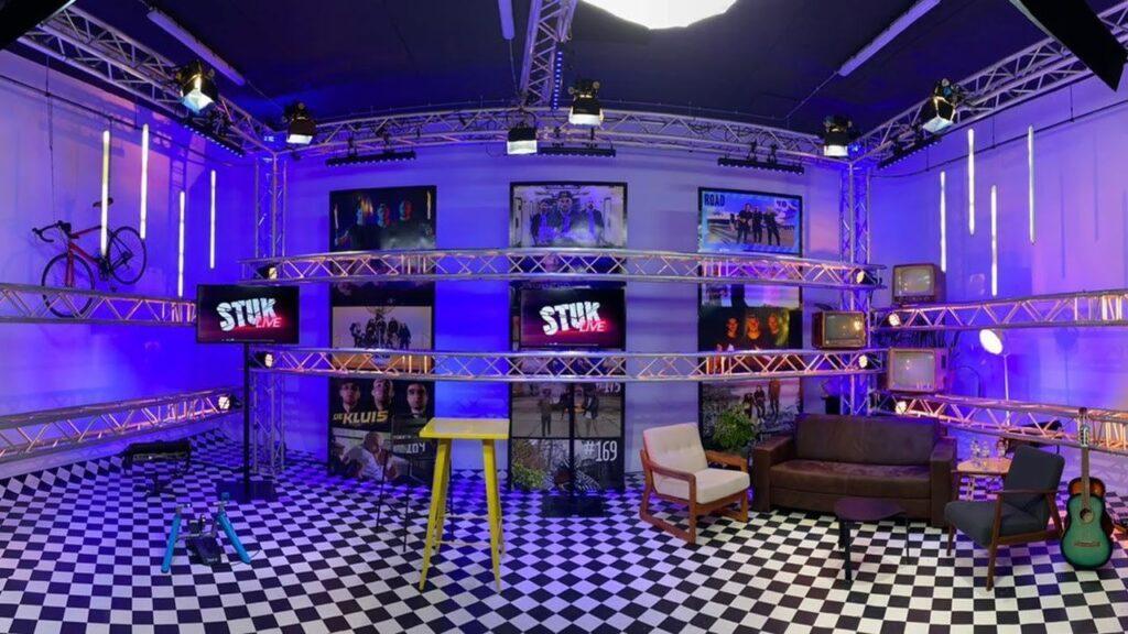 Opname voor StukTV in livestream studio