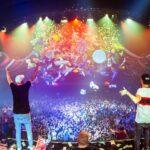 MagicFX powerdrop bij event met ballonnen opblaaskussens