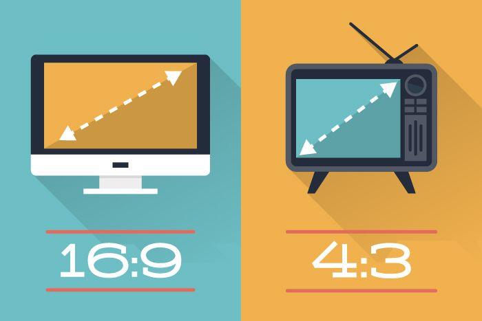 standard 4 3 vs widescreen 16 9