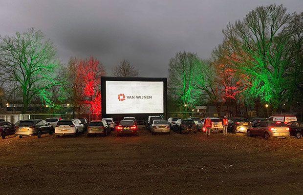 Drive in bioscoop voor Van Wijnen