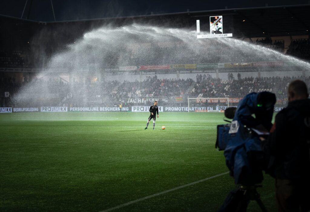 Livestream bij voetbal wedstrijd