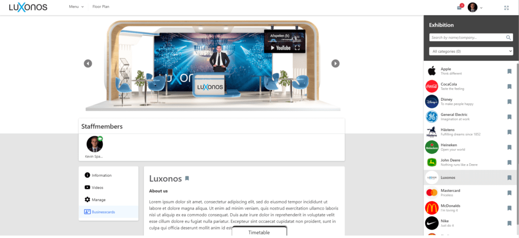 Livestream platform 3D