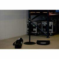 2x Luxe Speakerstatief met baseplate 1,10-1,81m huren