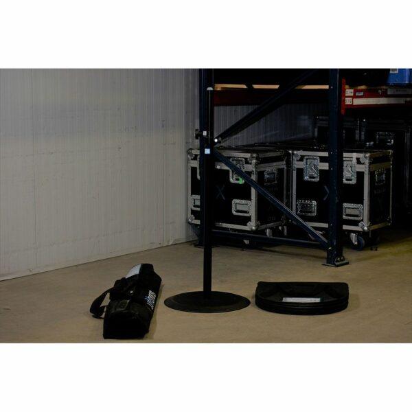 Luxe Speakerstatief met baseplate 1,10-1,81m huren