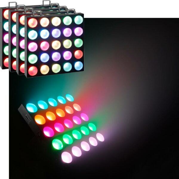 4x Cameo Matrix Panel 10W RGB