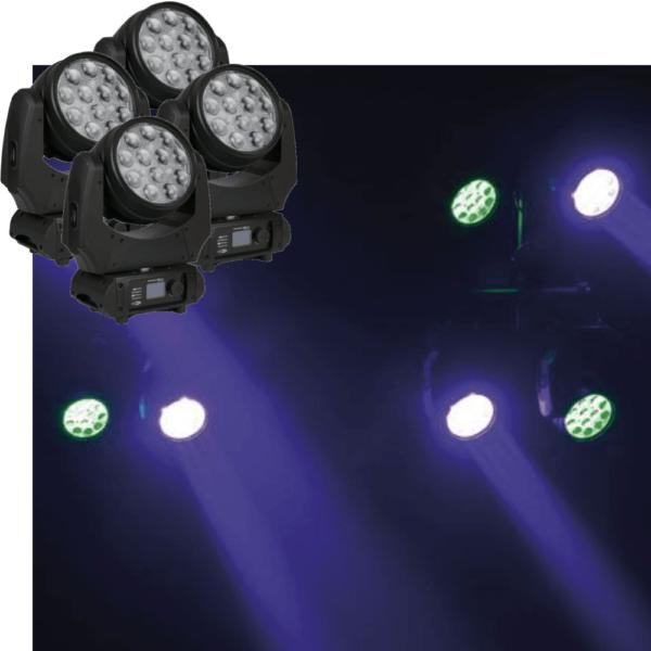 4x Movinghead 120W LED wash Phantom 120