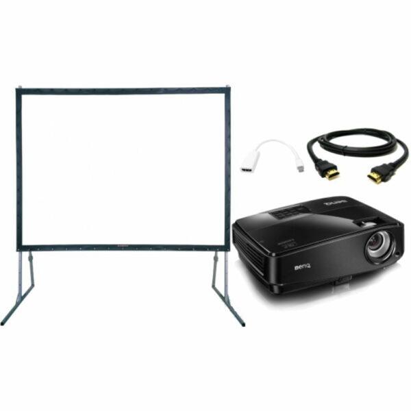 Beamer (3000 ansilumen) met luxe beamerscherm (203x152cm) huren