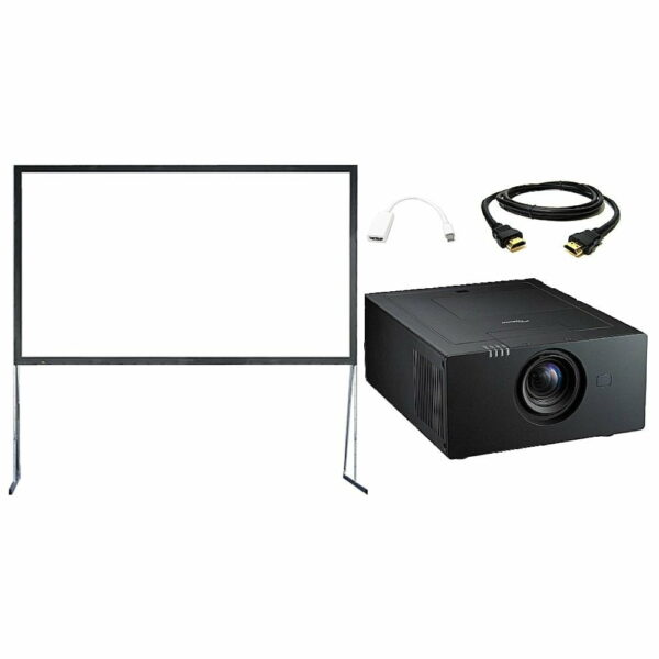 Beamer (7500 ansilumen) met luxe beamerscherm (400x220cm)