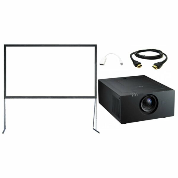 Beamer (7500 ansilumen) met luxe beamerscherm (630x350cm)