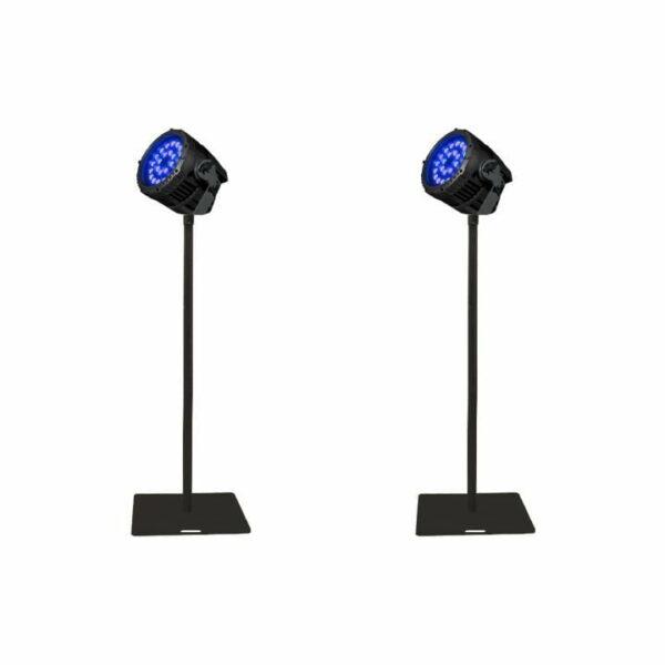 Blacklight set voor 1x tennisveld (incl. statieven & bekabeling)