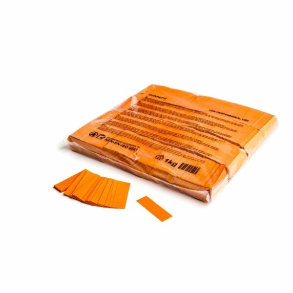 Confetti oranje papier 1kg