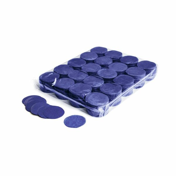 Confetti rondjes donkerblauw papier 1kg