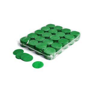 Confetti rondjes donkergroen papier 1kg