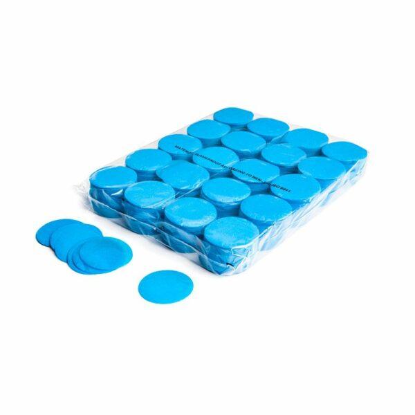 Confetti rondjes lichtblauw papier 1KG kopen