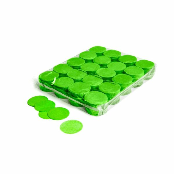 confetti rondjes lichtgroen papier 1kg