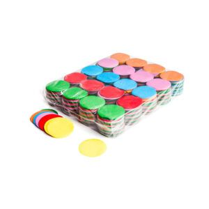 Confetti rondjes multicolor papier 1KG