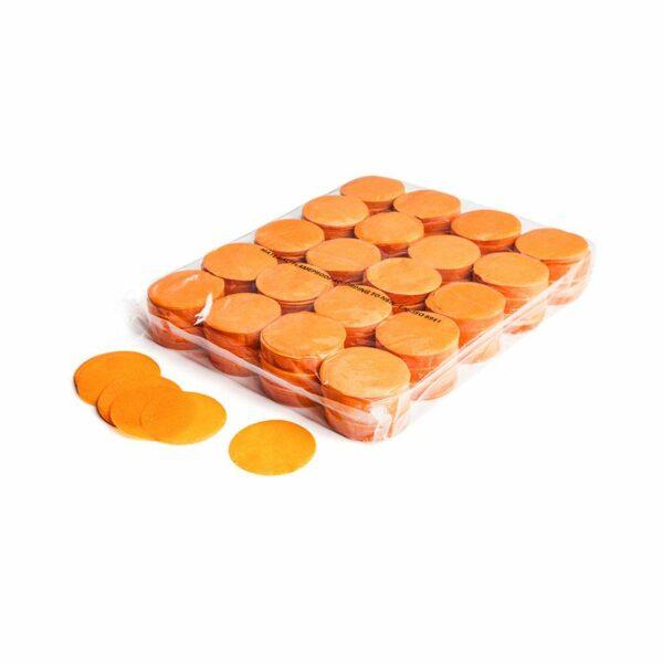 Confetti rondjes oranje papier 1kg kopen