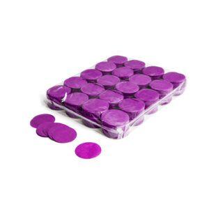Confetti rondjes paars papier 1kg