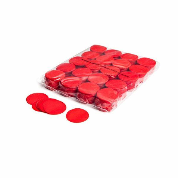 Confetti rondjes rood papier 1kg kopen