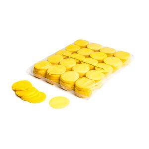 Confetti rondjes geel papier 1KG