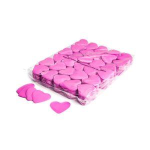 Confetti hartjes roze papier