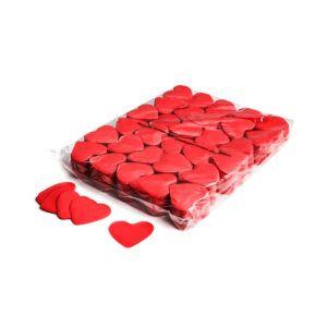 Confetti hartjes rood papier