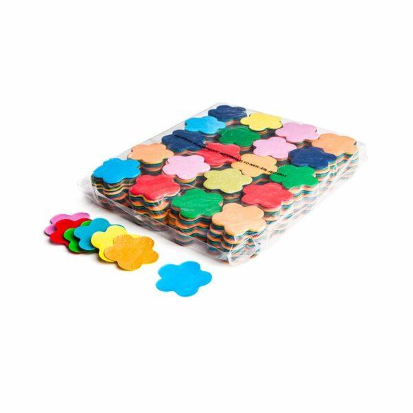 Confetti bloemetjes multicolor papier kopen