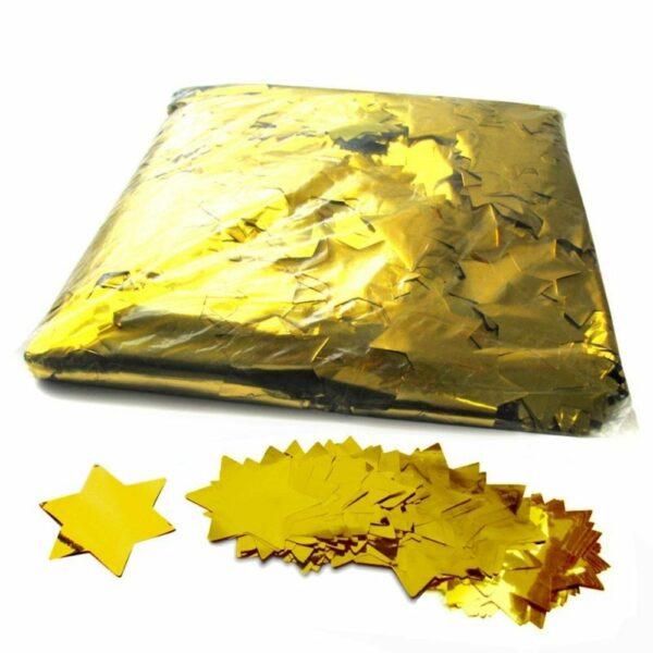 CON14GL - Confetti sterren goud metallic 1kg