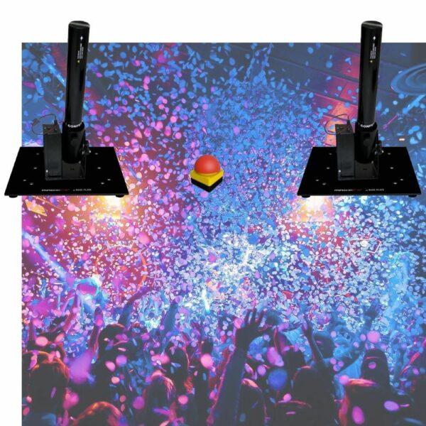 Confetti set 1 - 2 basisstation + drukknop + 2 buizen