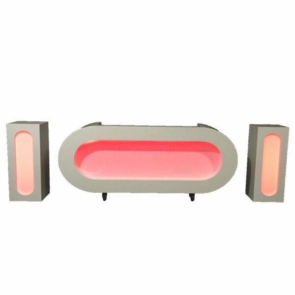 LED DJ meubel met 2 pilaren RGB LED huren