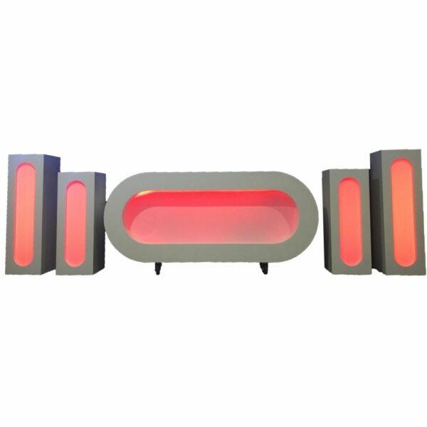 LED DJ meubel met 4 pilaren huren