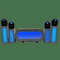 LED DJ meubel met Phantom 200 wash movingheads