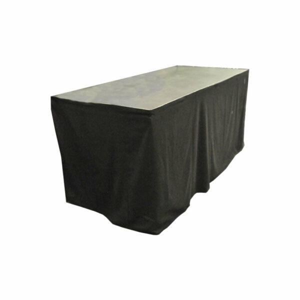 DJ meubel podiumdeel 1x0,5m op 100cm met zwarte afrok