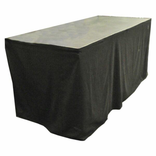 DJ meubel podiumdeel 2x1m op 100cm met zwarte afrok huren