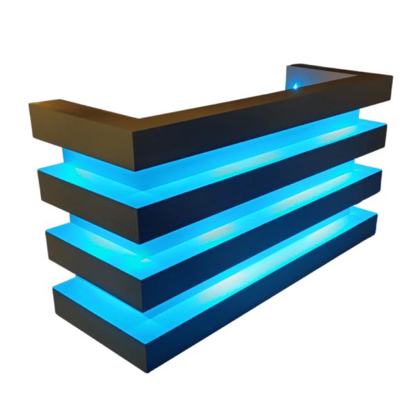 DJ meubel wit blocks LED