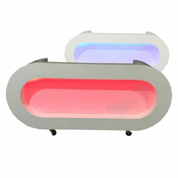 LED DJ meubel wit ovaal RGB LED