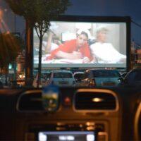 Drive-in bioscoop voor 50 auto's huren