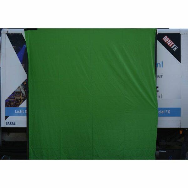 Greenscreen doek met klittenband 590x300cm (BxH)