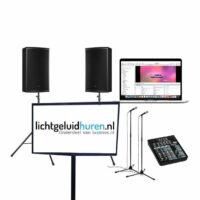 Karaoke set met 46 inch scherm
