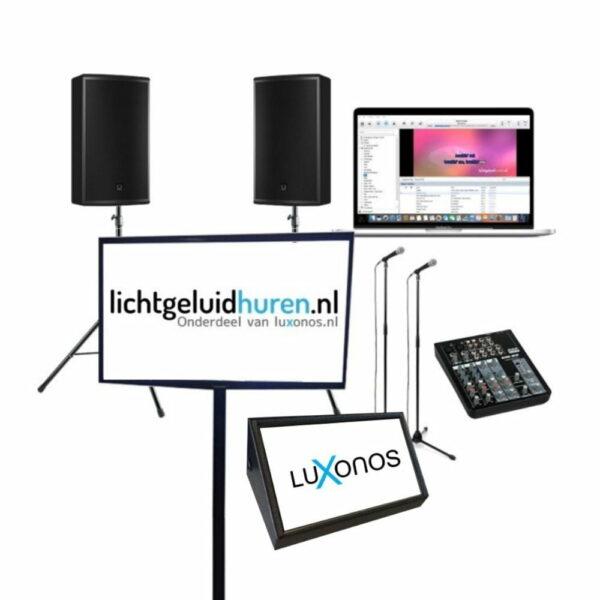 Karaoke set met 46 inch scherm en afkijkscherm