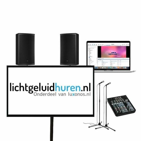 Karaoke set met 60 inch scherm