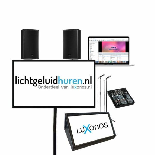 Karaoke set met 60 inch scherm en afkijkscherm
