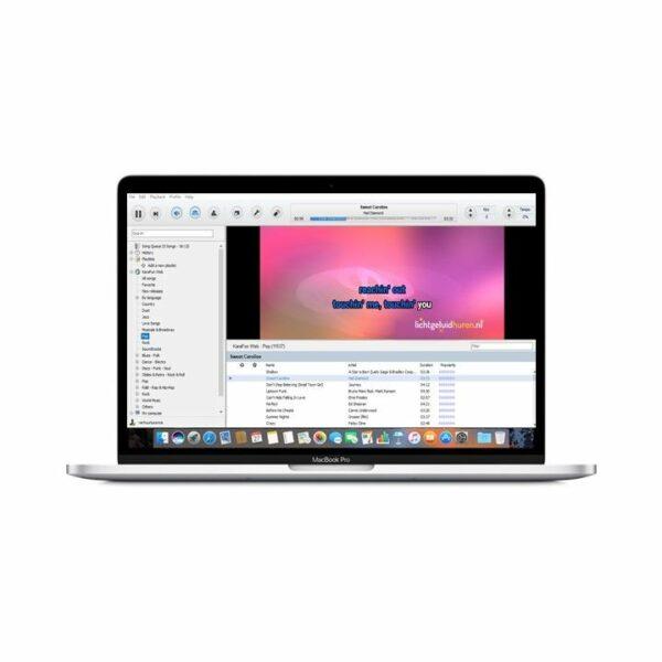 Karaoke software op laptop