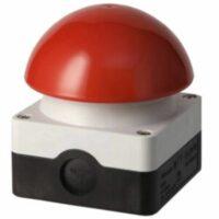 Kick off button: Rode drukknop op houten plaat (FAKE) huren