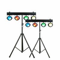 Lichtset 2: 2x 4 LED spots COB