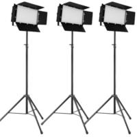 Lichtset: 3x Luxibel B PANEL240CW LED Panel op statief huren