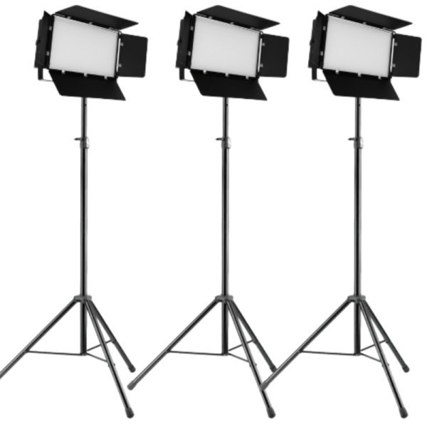 Lichtset 3x Luxibel B PANEL240CW LED Panel op statief