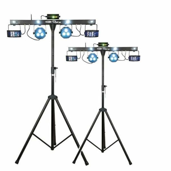 Lichtset 4: 2x QFX multi-effect fourbar 45W LED