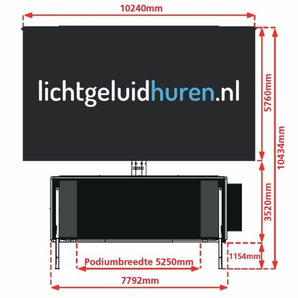 Mobiel ledscherm van 60m2