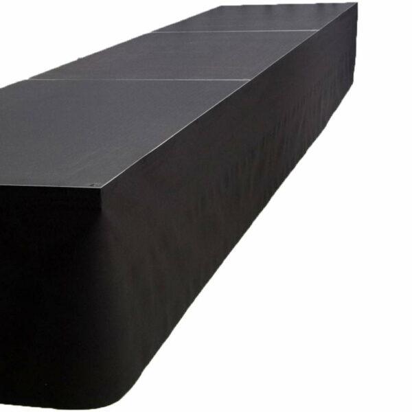 Podiumrok zwart (300 x 20 cm) Luxonos huren
